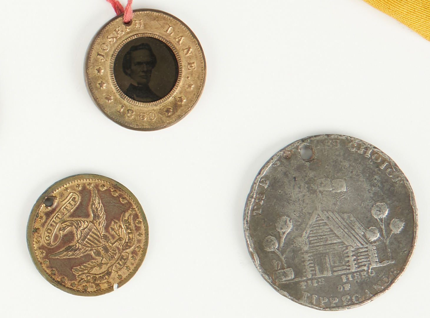 Lot 654: Group of Political Items, incl. End of Pain 1793 Token