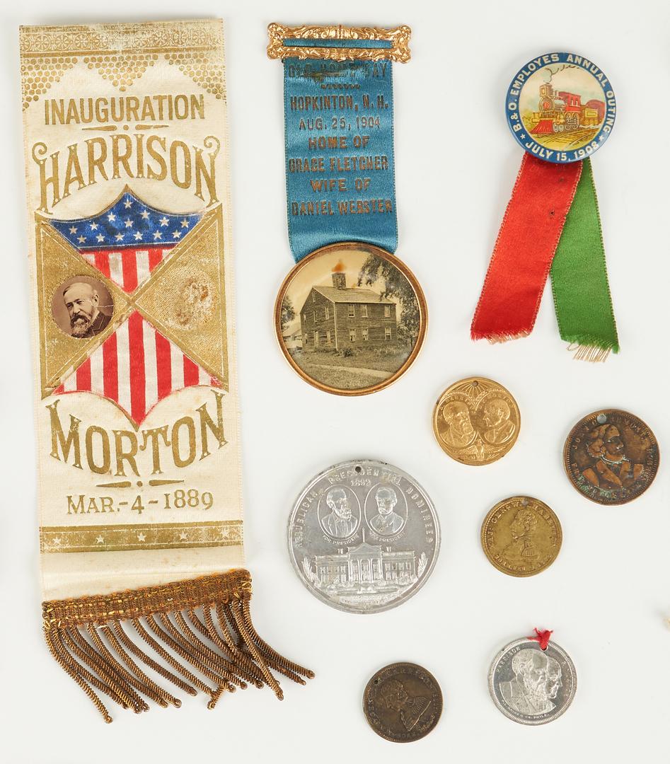 Lot 658: 31 Political Related Ephemera Items, incl. B. & Wm. H. Harrison