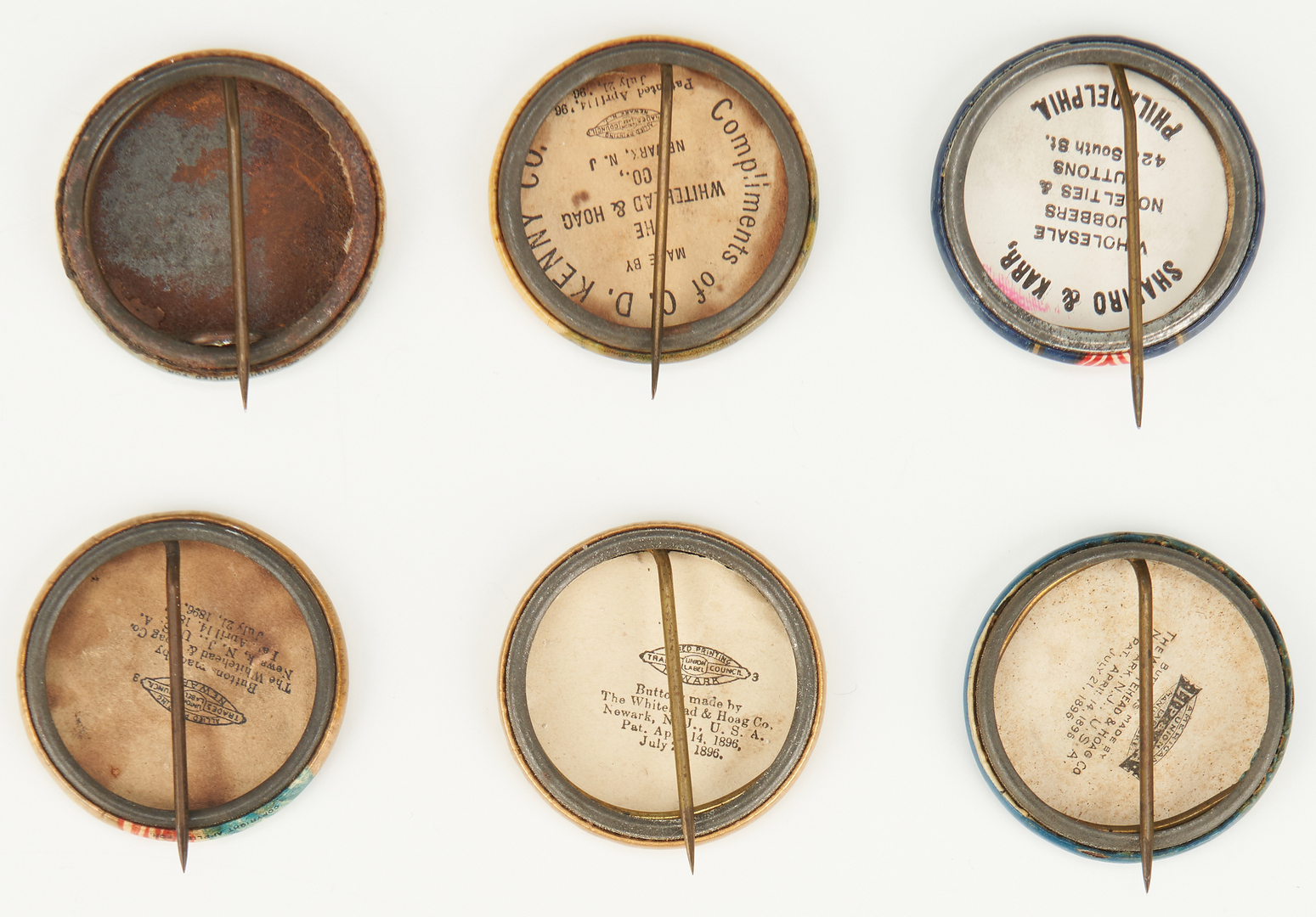 Lot 659: 10 Political Ephemera Items, incl. McKinley, Roosevelt, Taft