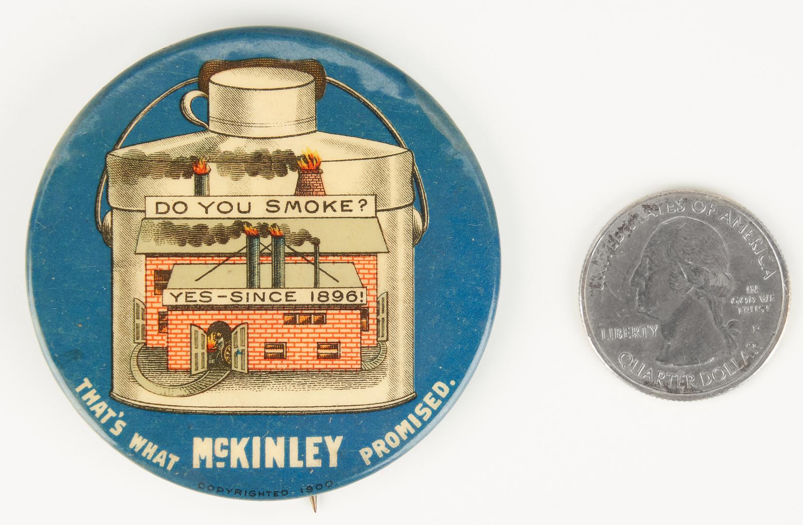 "Lot 664: William McKinley ""Do You Smoke?"" Pinback Button, 1900"