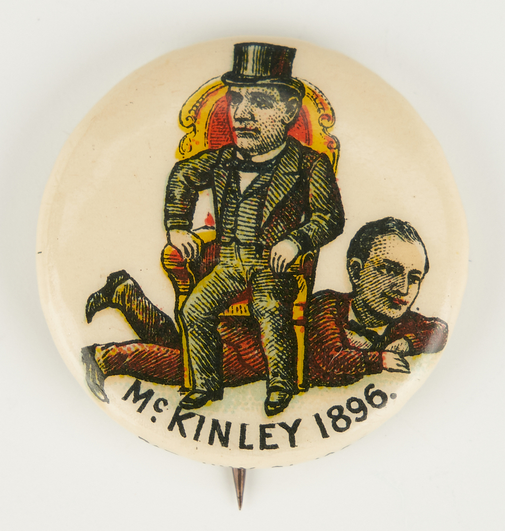 Lot 666: 2 McKinley First Presidential Campaign Buttons