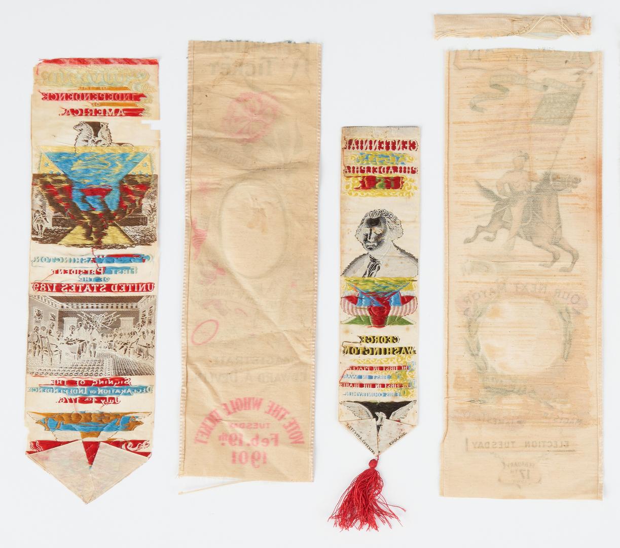 Lot 668: 9 Political Ribbons, including Louisiana Purchase, Washington, GOP