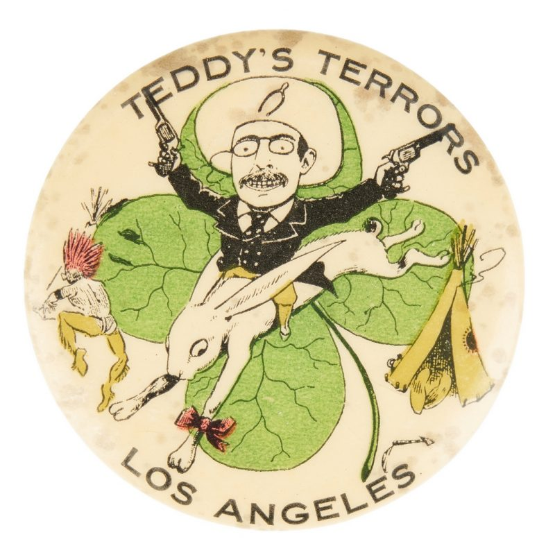 Lot 671: Teddy's Terrors, Los Angeles Pinback Button