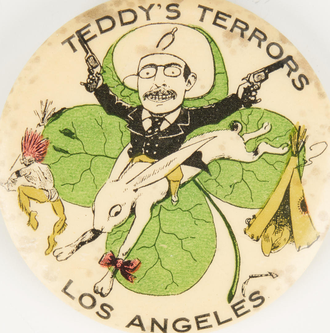 Lot 671: Teddy's Terrors, Los Angeles Pinback Button