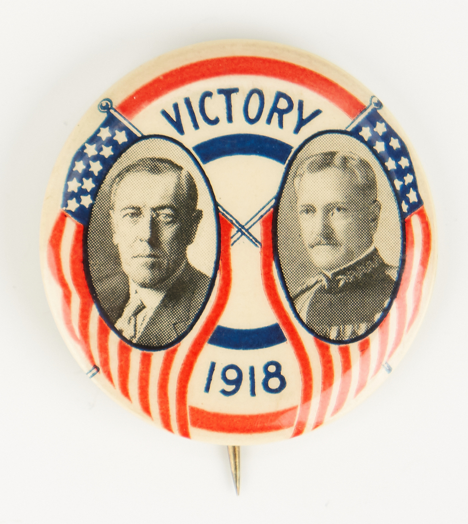 Lot 672: 3 Buttons: Theo. Roosevelt & Wilson
