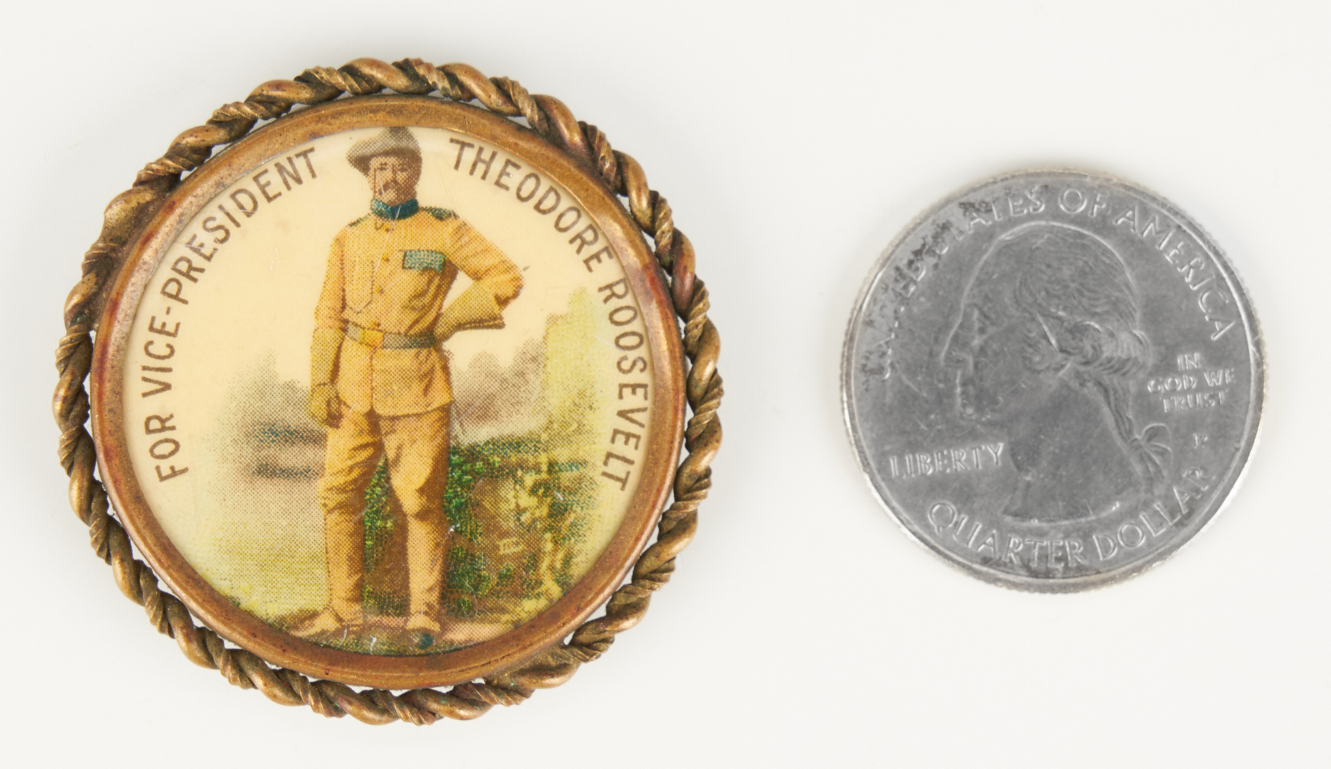 Lot 677: T. Roosevelt for Vice Pres. Button