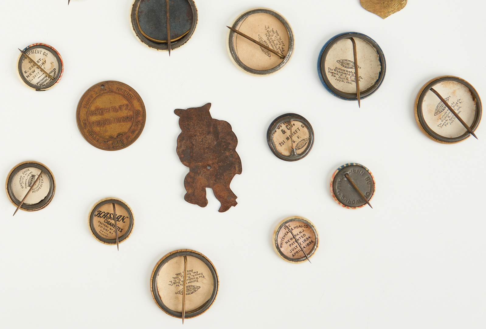 Lot 680: Late 19th/Early 20th Cent. Political Buttons