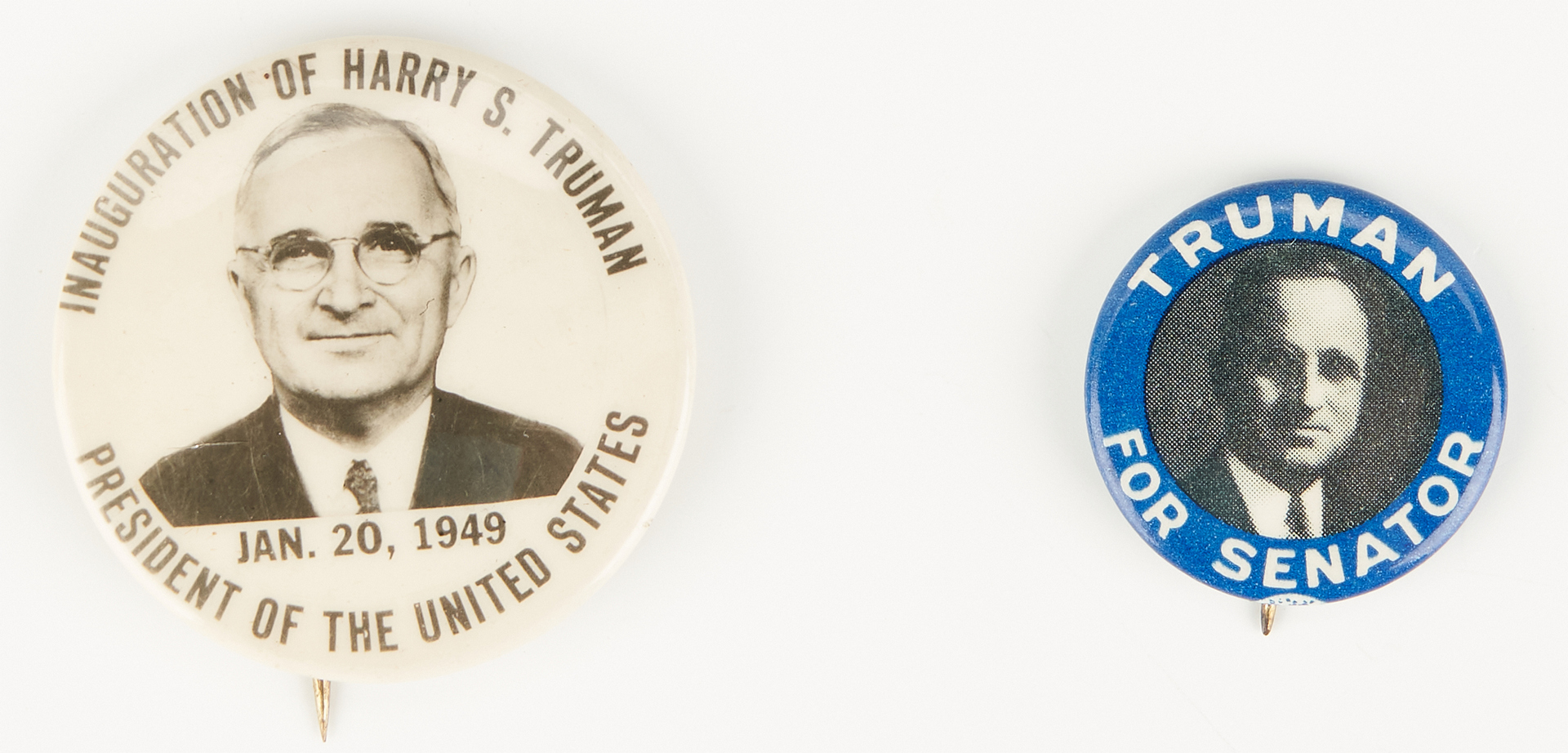 Lot 683: 4 Truman Buttons, incl. Churchill Westminster College