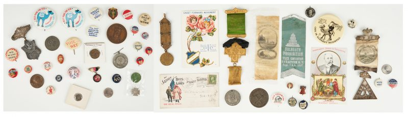 Lot 686: 52 Prohibition & Women's Suffrage Related Ephemera Items