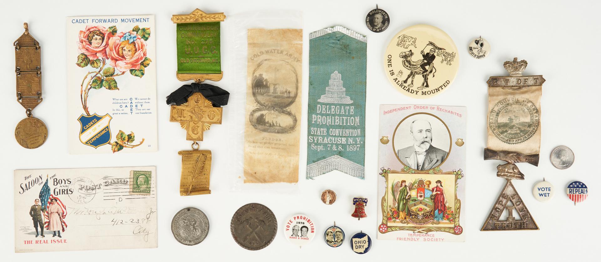Lot 686: 52 Prohibition & Women's Suffrage Related Ephemera Items