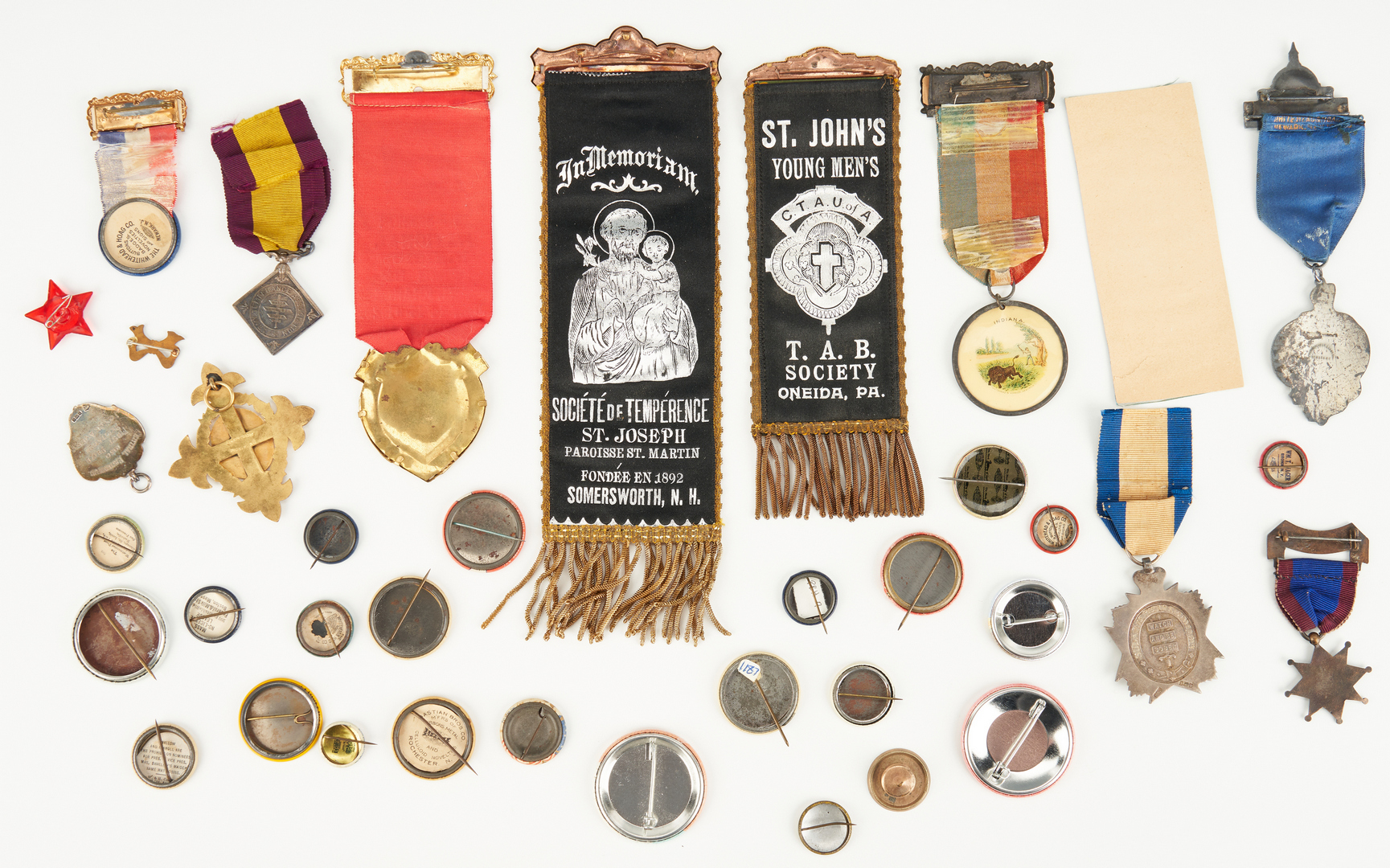 Lot 687: Group of Prohibition/Temperance Related Ephemera, incl. Campaign Buttons