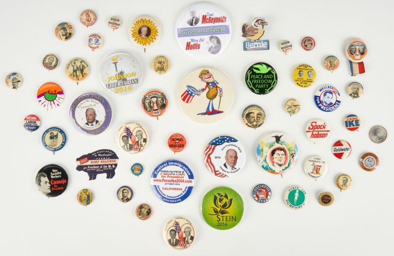 Lot 688: Group of 20th Cent. Political Buttons