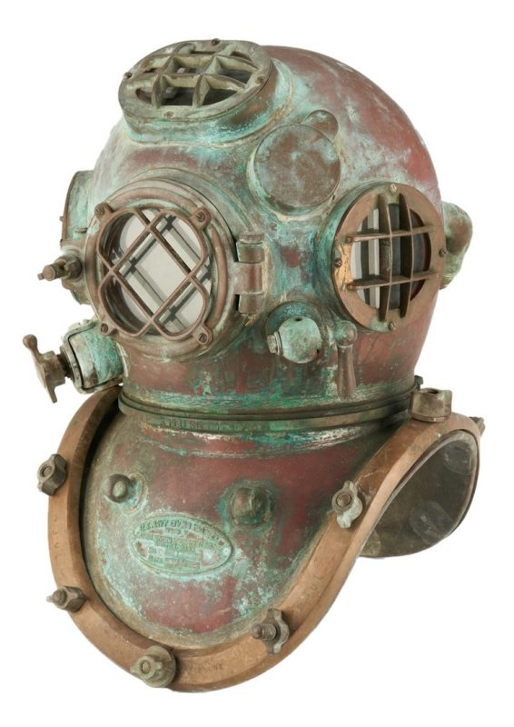 Lot 691: U.S. Navy Morse Mark V Dive Helmet 1942