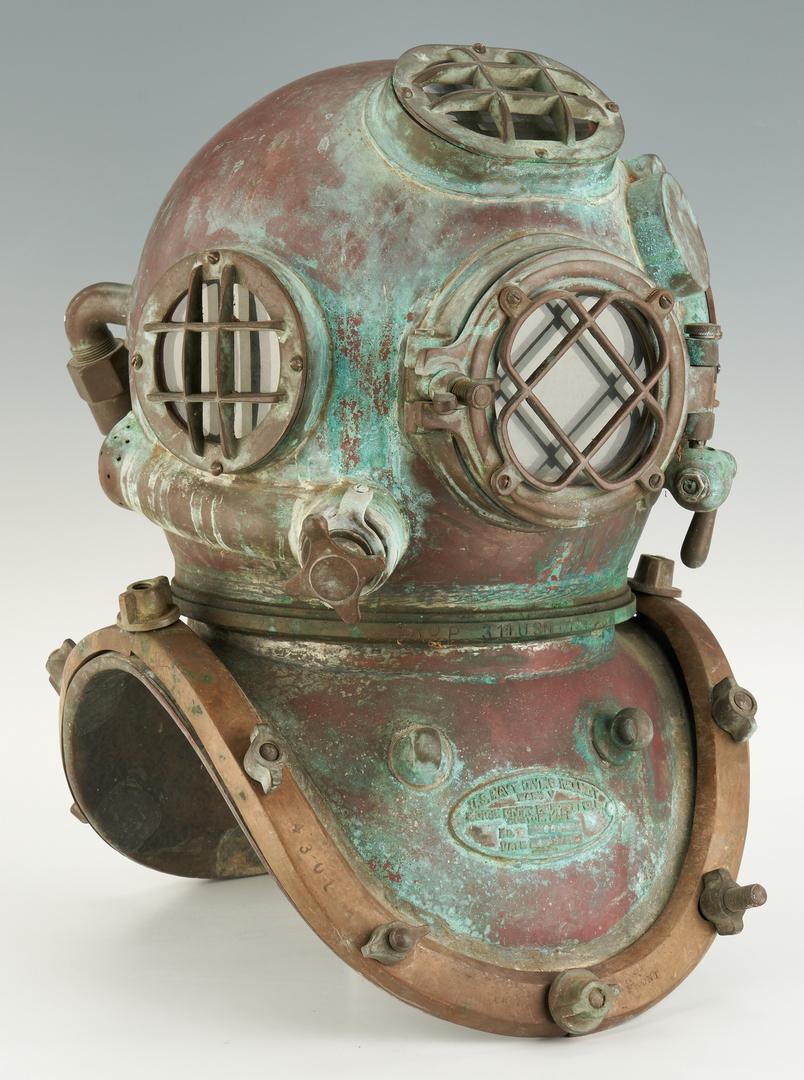 Lot 691: U.S. Navy Morse Mark V Dive Helmet 1942