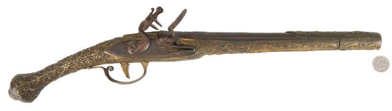Lot 695: Turkish or Ottoman Flintlock Holster Pistol, .62 cal.