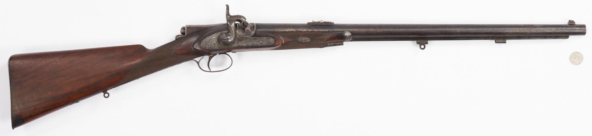Lot 698: British E.M Reilly & Co. Percussion Carbine, .577 Caliber
