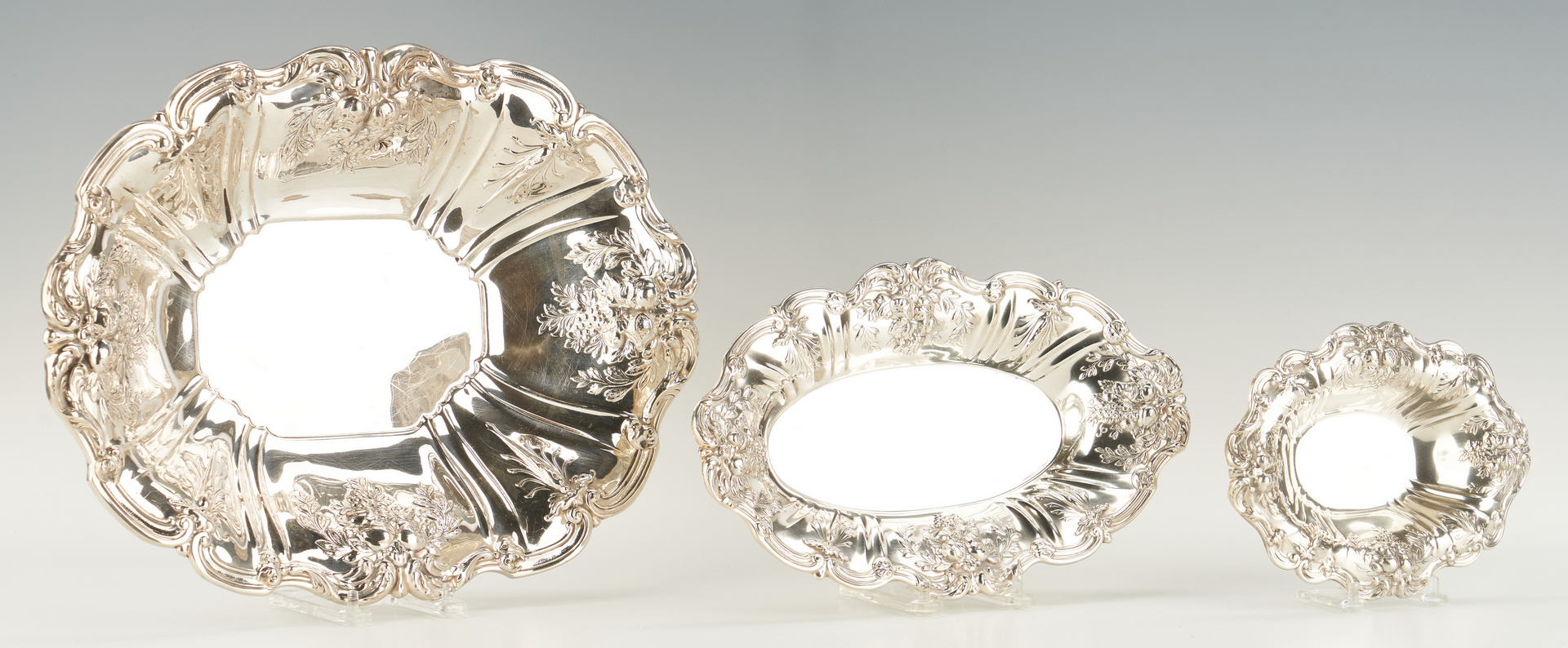 Lot 69: 3 Reed & Barton Francis I Sterling Serving Dishes