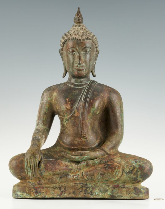 Lot 6: Southeast Asian Bronze Buddha
