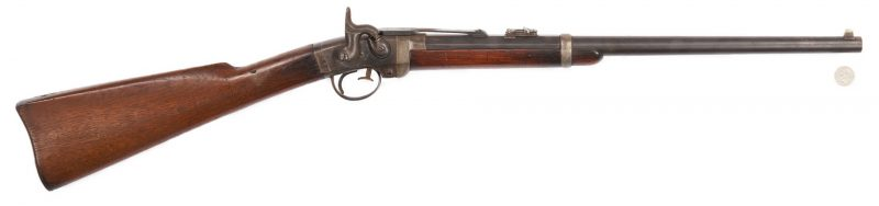 Lot 701: Civil War Poultney & Trimble Smith's Patent Carbine, .50 cal.