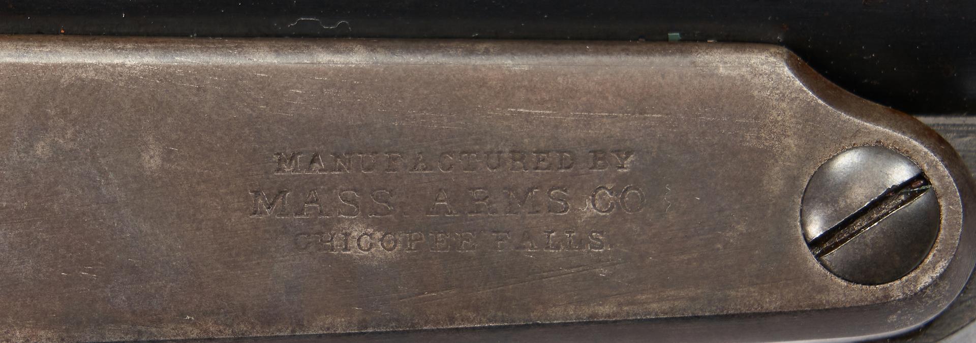 Lot 703: Civil War Mass. Arms Co. 2nd Model Lever Action Carbine, .50 cal.