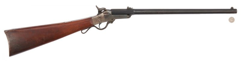 Lot 704: Civil War Mass. Arms Co. 2nd Model Lever Action Carbine, .50 cal.