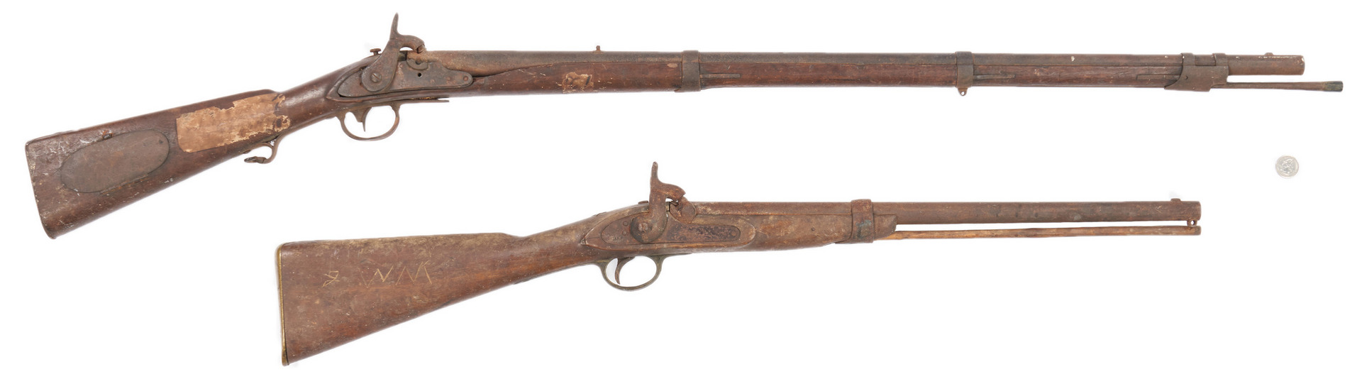 Lot 706: 2 Civil War Era Guns, poss. TN Battlefield Pickups
