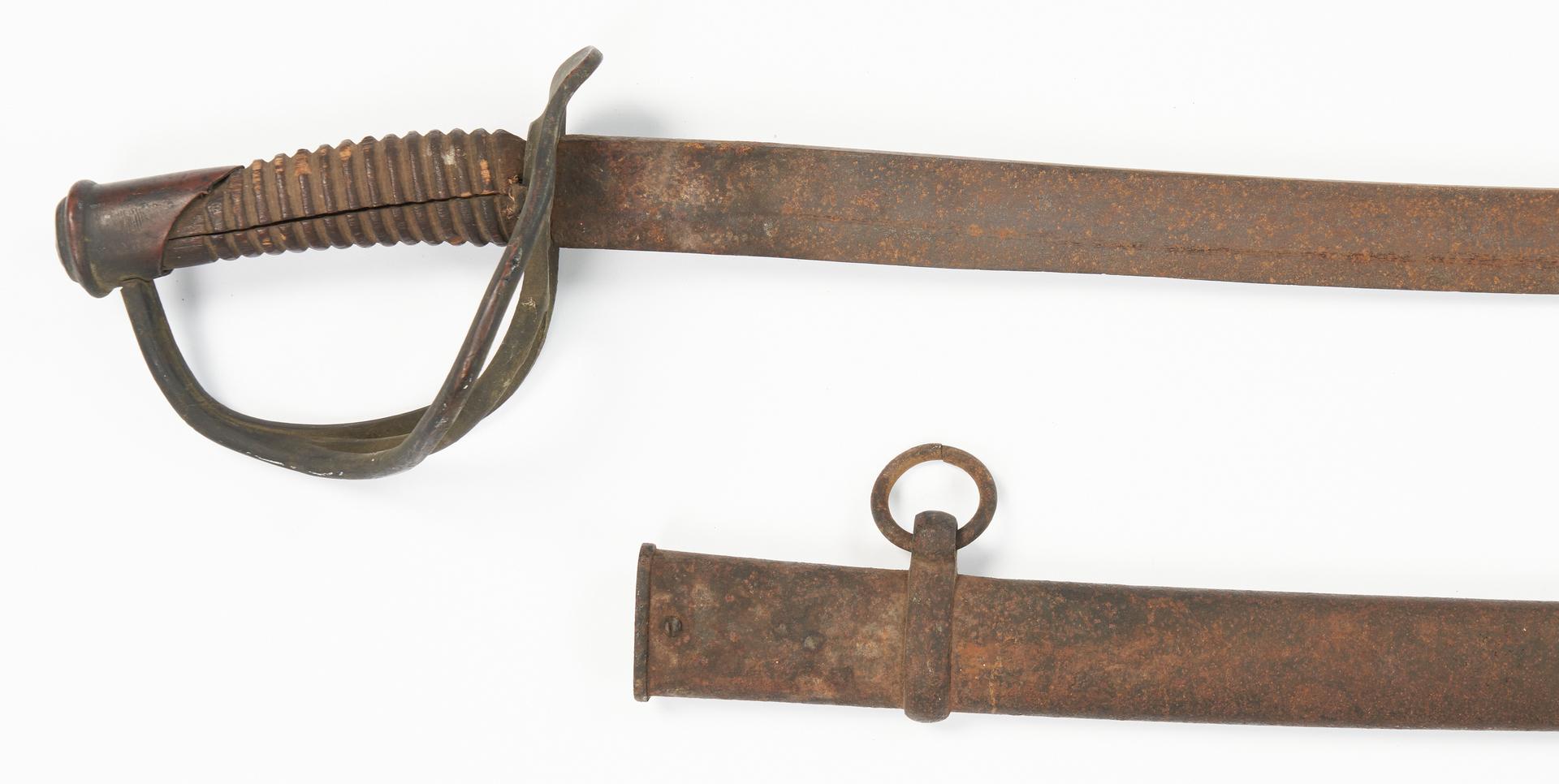 Lot 707: 2 Civil War East TN Battlefield Pickup Swords