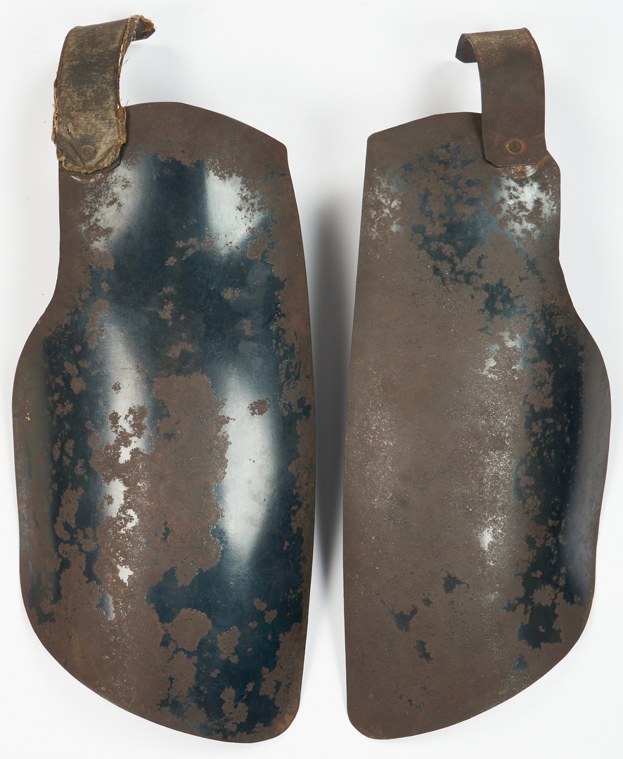 Lot 711: Civil War Bullet Proof Vest/Body Armor & Neck Stock