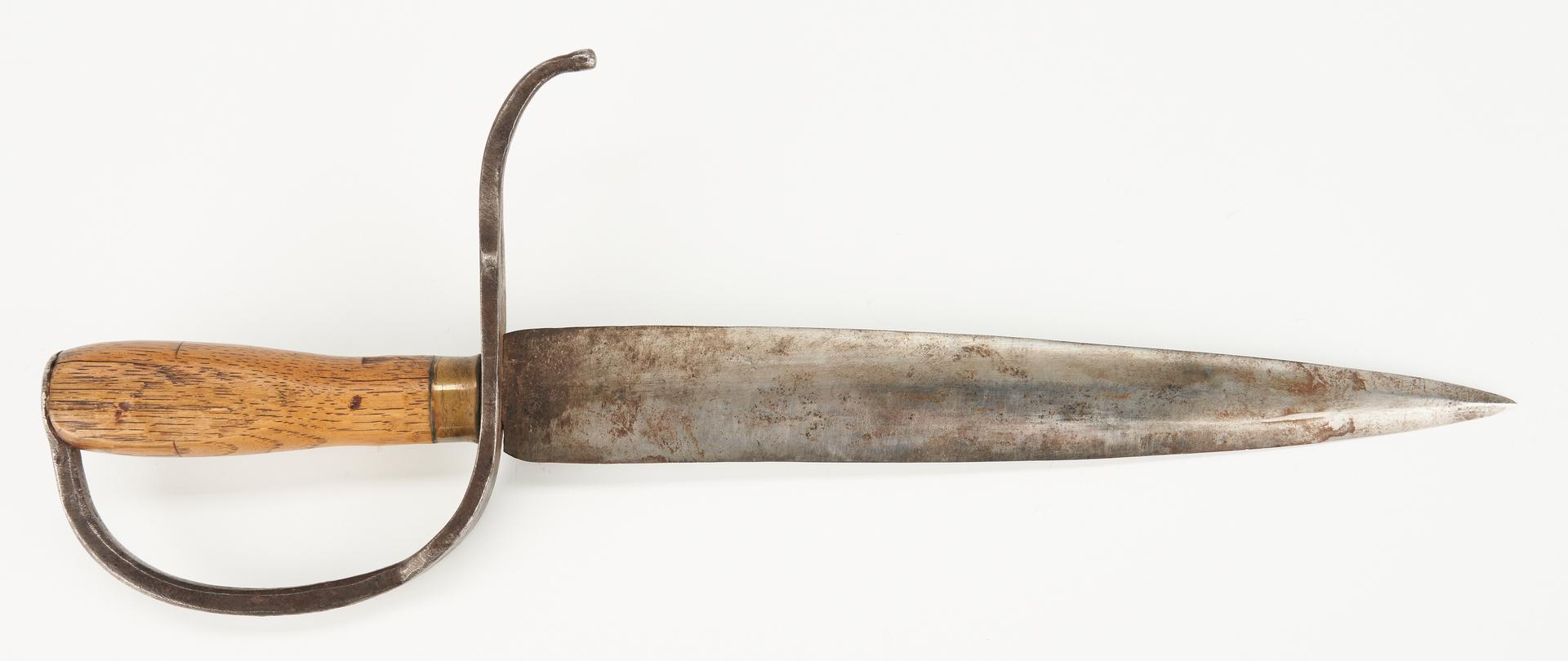 Lot 714: Confederate D Guard Bowie Knife w/ Scabbard, poss. Georgia