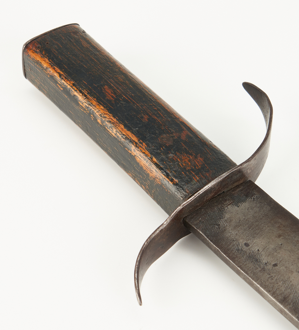 Lot 715: Confederate Clip Point Side Knife
