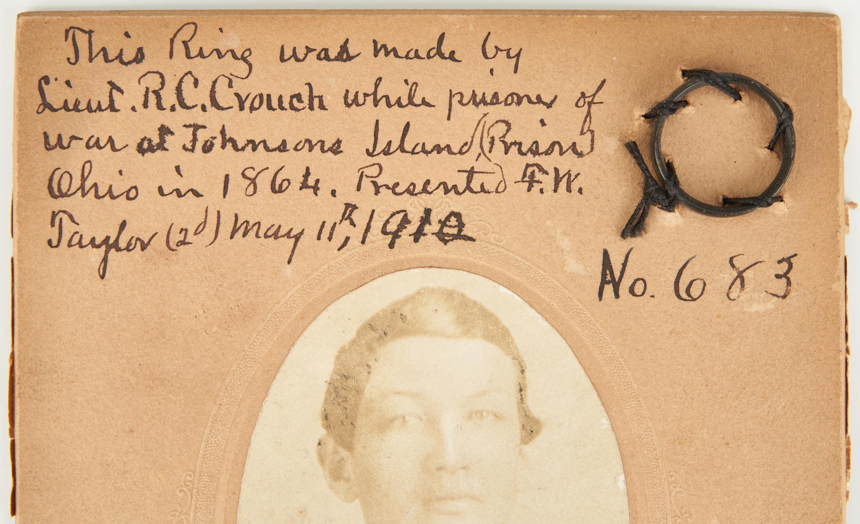 Lot 721: Civil War R.C. Crouch, Johnson's Island Photograph