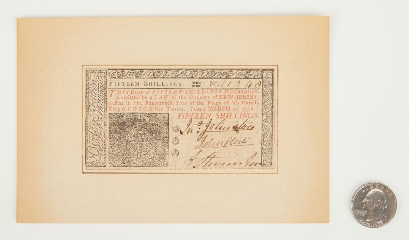Lot 723: Declaration Signer John Hart signed Colonial Currency, 1776