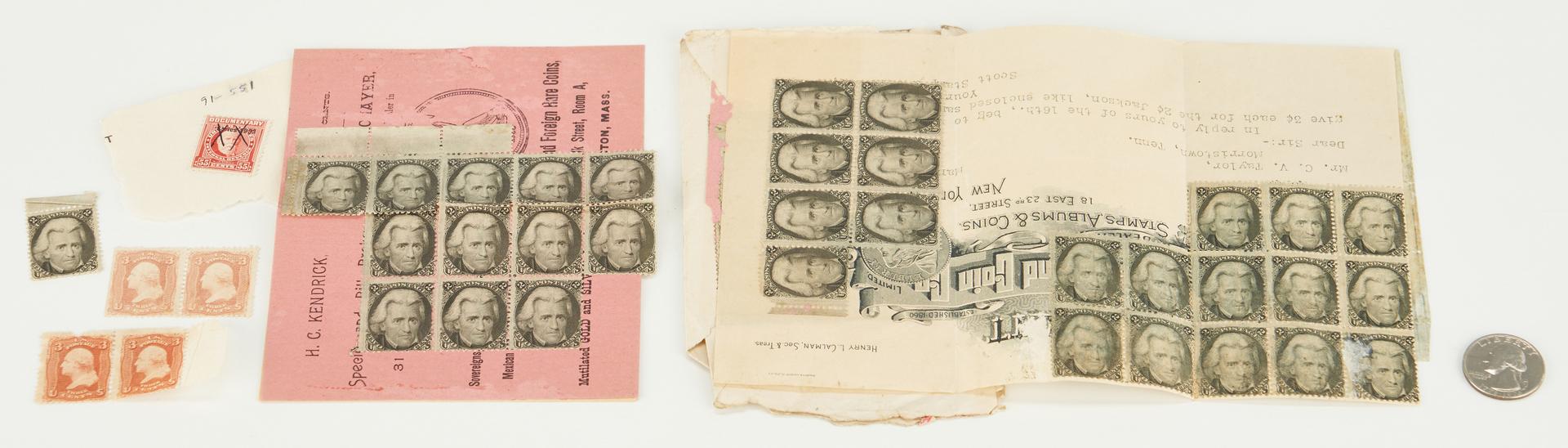 "Lot 724: 39 Andrew Jackson ""Black Jack"" Stamps, 47 items"