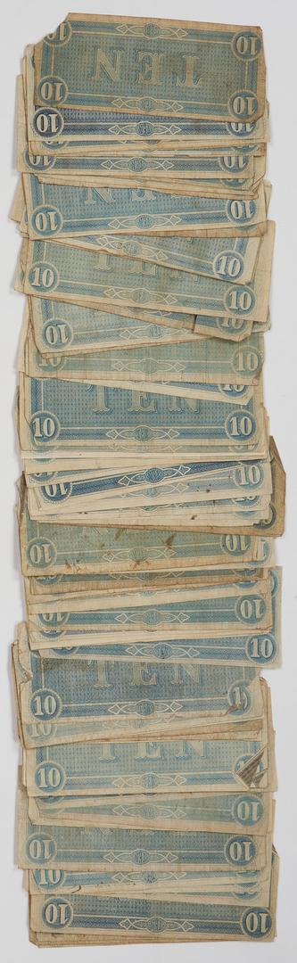 Lot 729: 125 CSA Currency Bills, incl. T-39, T-40, T-66