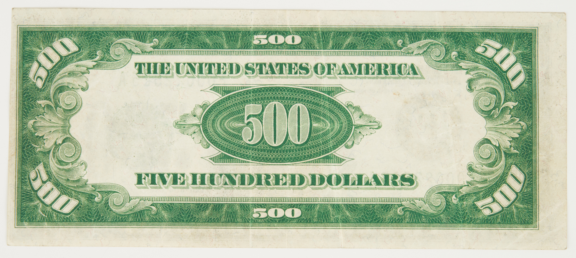 Lot 731: 1928 US $500 Green Seal Federal Reserve Note