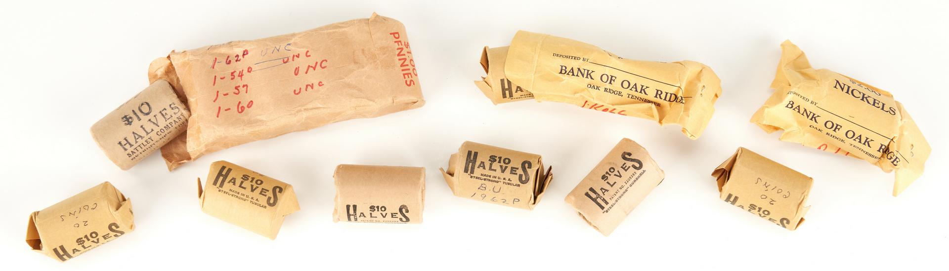 Lot 737: 274 90% Franklin Silver Half Dollars, incl. UNC Rolls