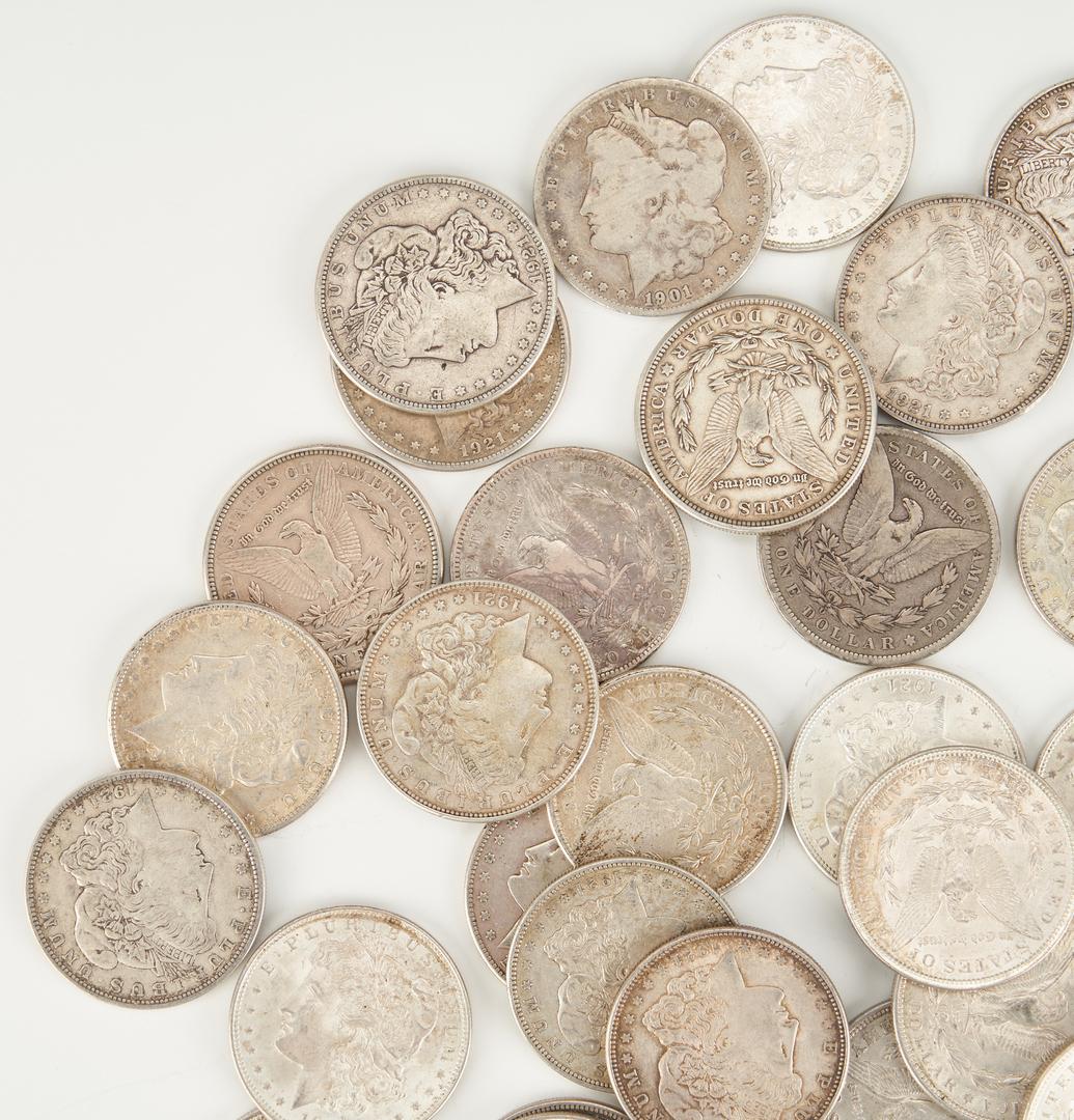 Lot 738: 47 U.S. Morgan & Peace Silver Dollars