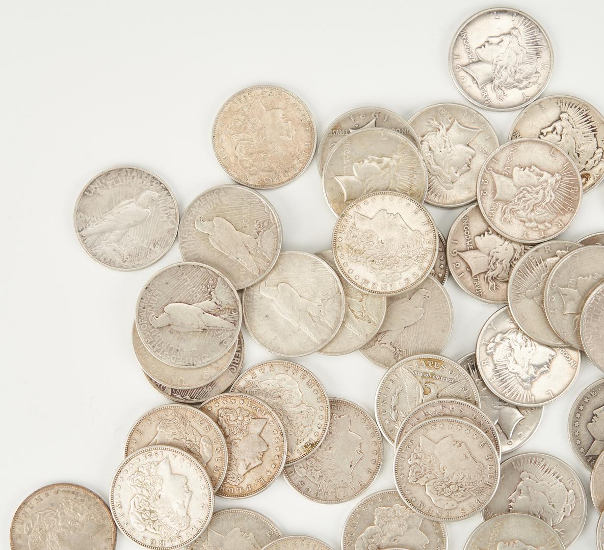 Lot 739: 22 Morgan & 36 Peace Silver Dollars