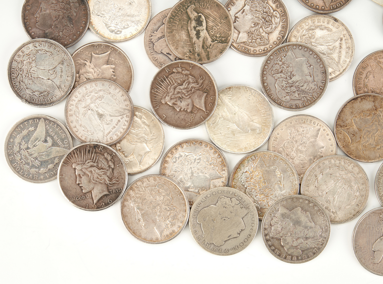Lot 740: 33 Morgan & 14 Peace Silver Dollars
