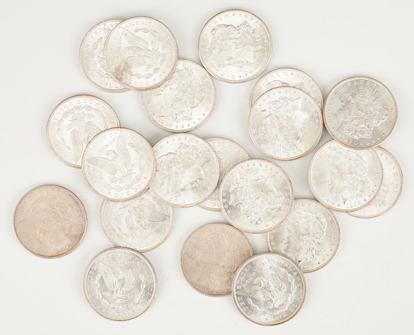 Lot 743: UNC Roll of Morgan Silver Dollars, #1, 1896