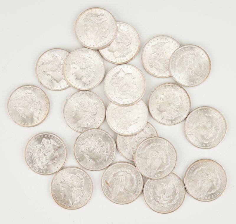Lot 745: UNC Roll of Morgan Silver Dollars, #2, 1896