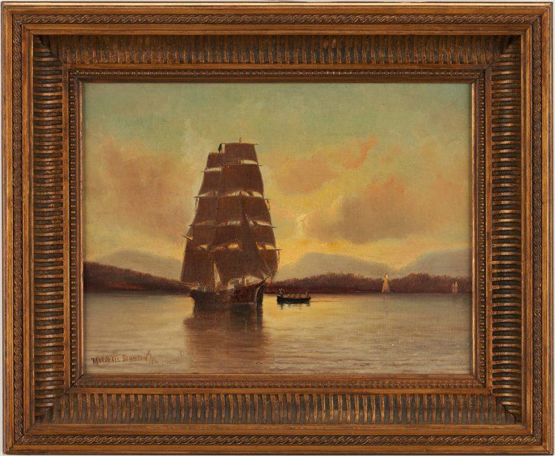 Lot 748: Marshall Johnson Jr. Maritime Painting