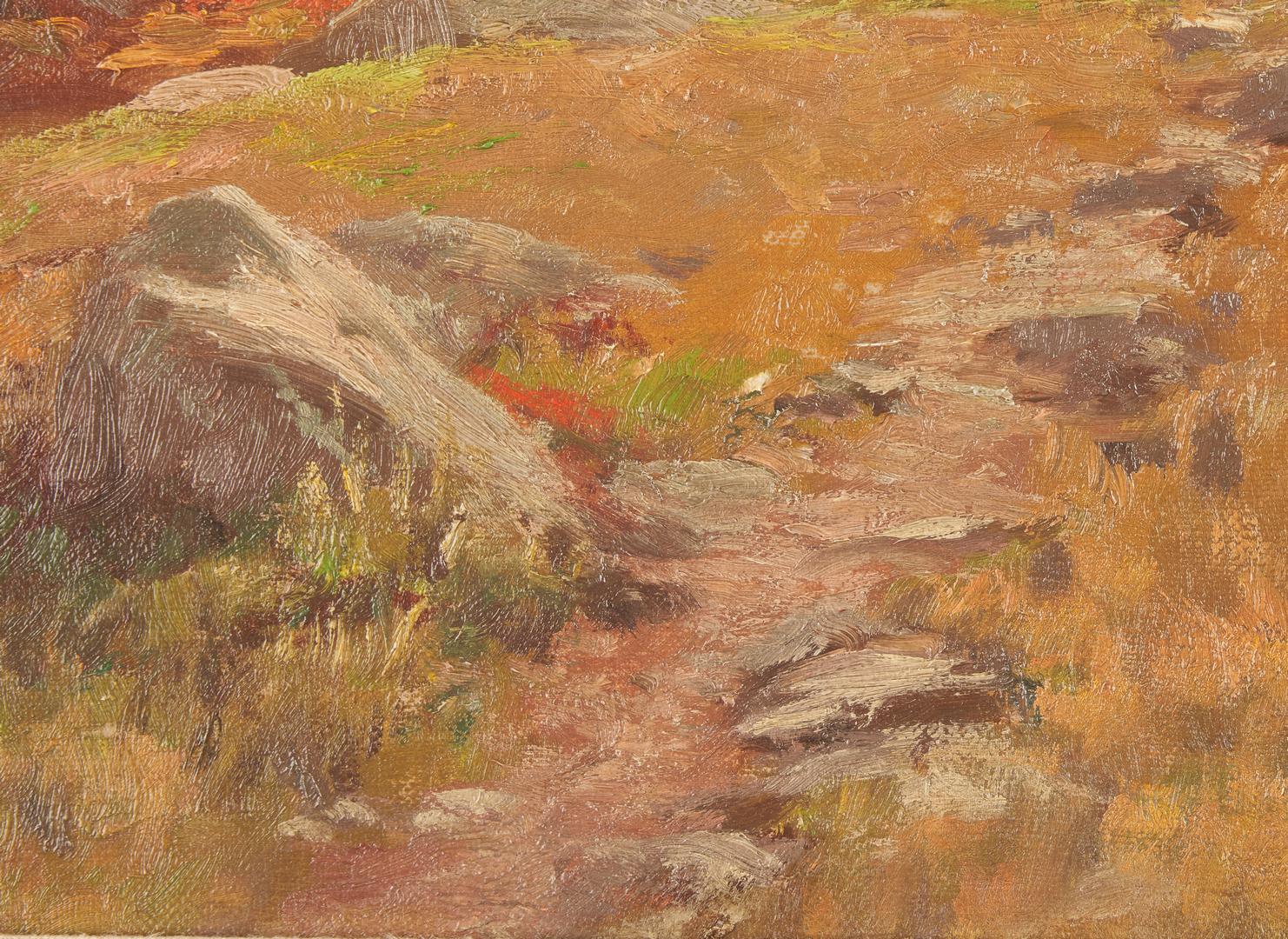 Lot 750: Thomas Craig O/C Painting, New England Autumn Landscape