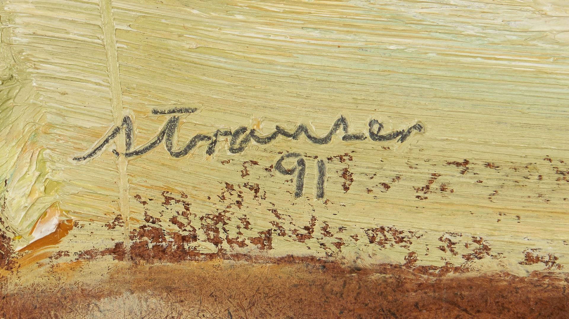 Lot 753: Sterling Strauser O/B, Floral Still Life
