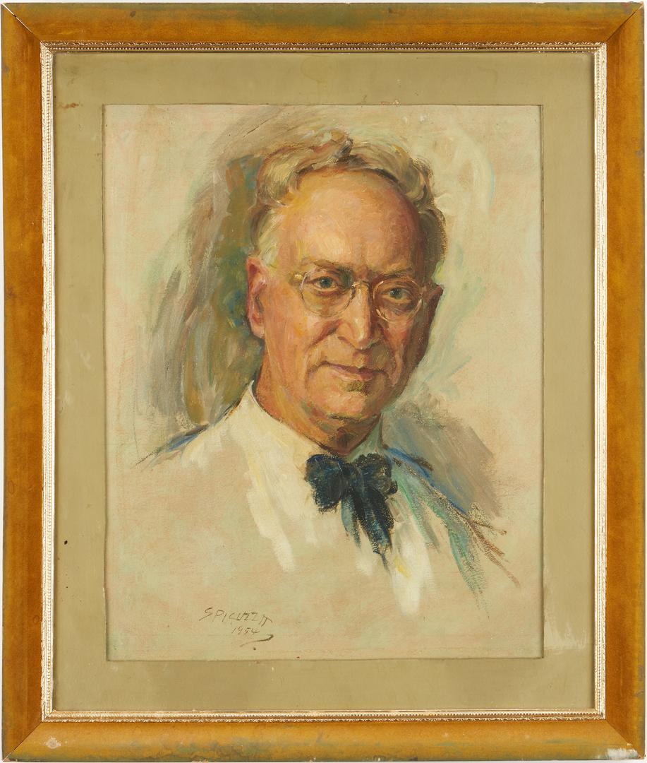 Lot 758: Francesco Spicuzza O/B, Self Portrait Painting