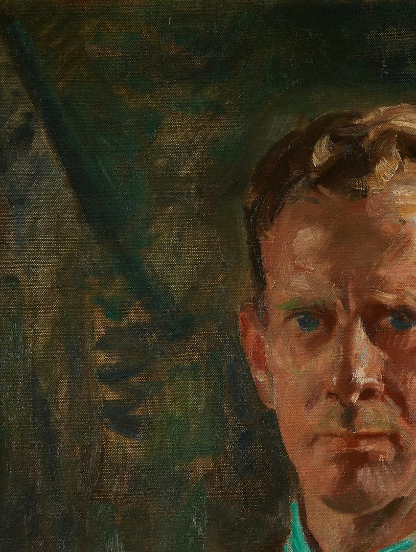 Lot 759: J.E. Weis O/C, Self Portrait
