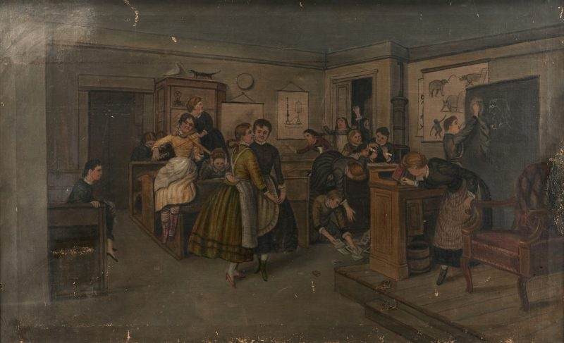 "Lot 761: Marcus Mote, ""Girls' School During Recess"""