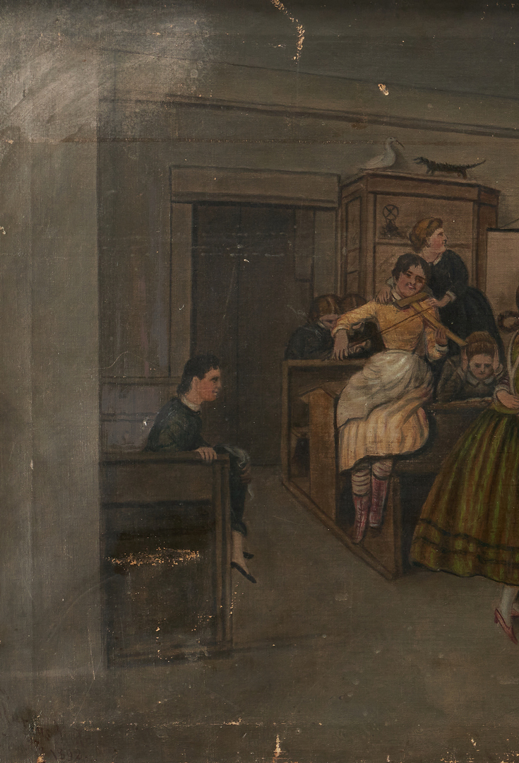 """Lot 761: Marcus Mote, """"Girls' School During Recess"""""""