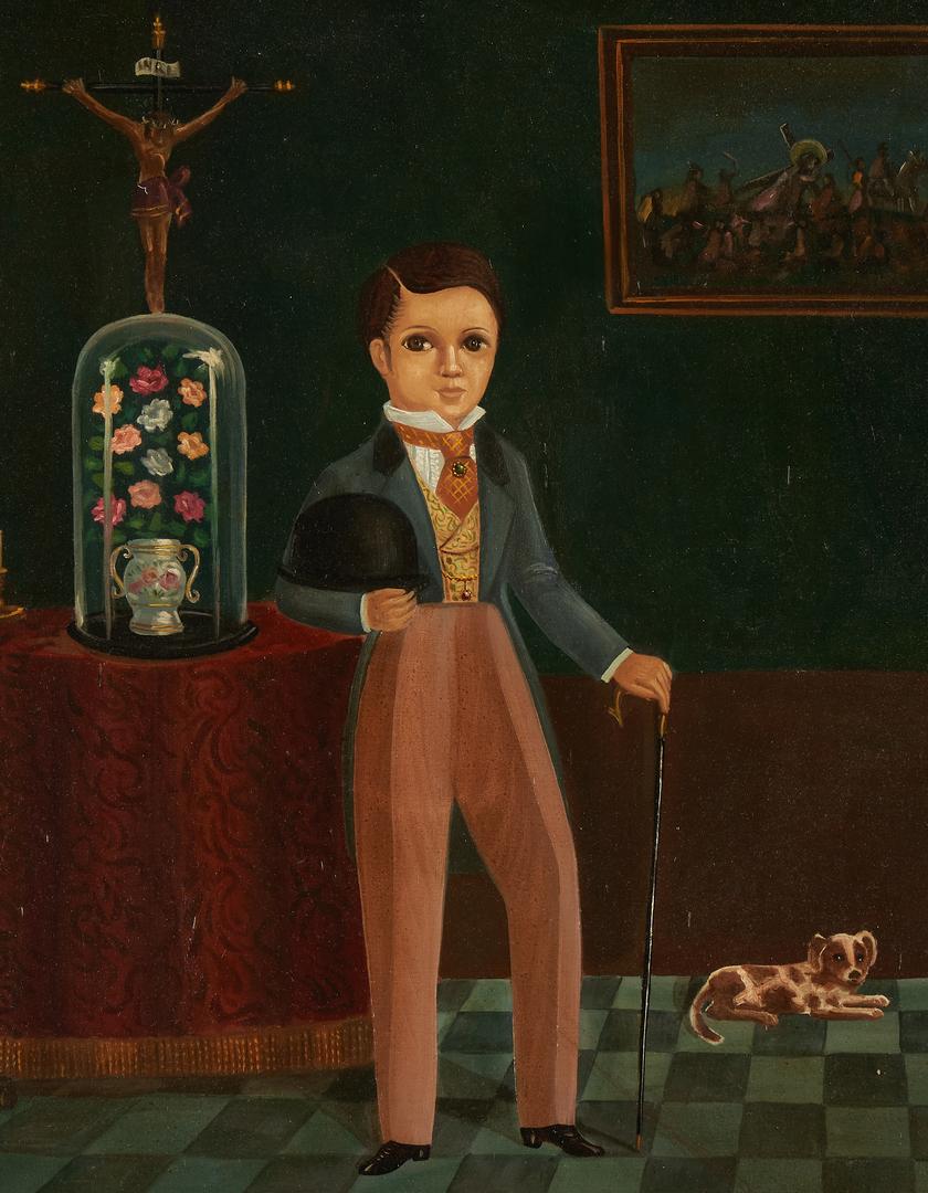 Lot 764: Trebol Rojo O/C Portrait of a Young Boy
