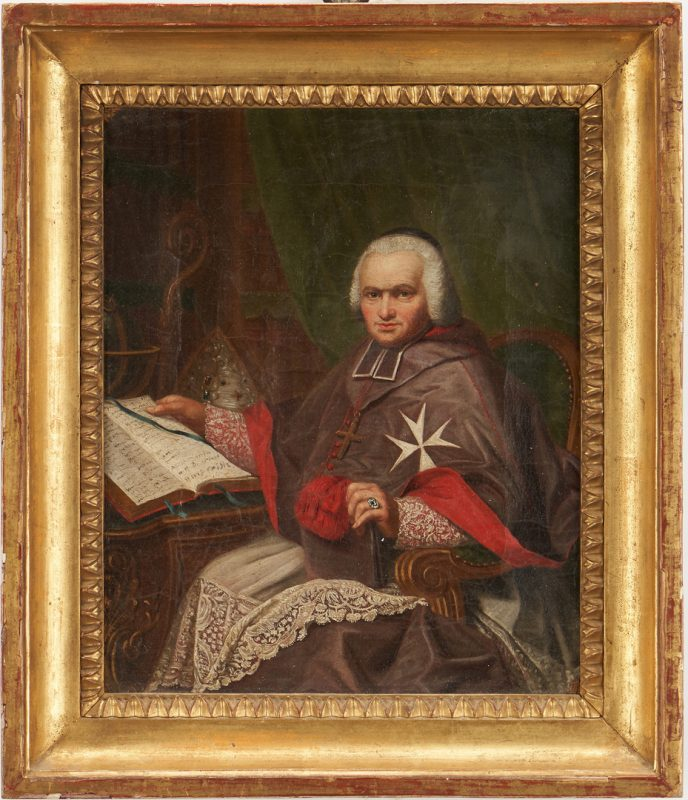 Lot 768: Continental School, Oil Portrait of a Cardinal